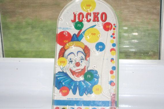 Jocko Clown Pinball GameVintage Collectible by Castawayacres