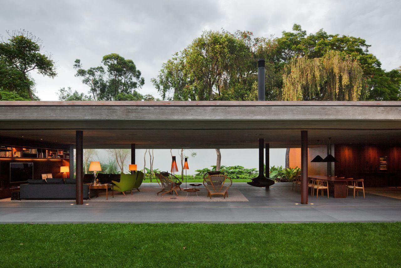 Open layout house concept by studio mk27 - Galeria Casa V4 Studio Mk27 Marcio Kogan Renata Furlanetto 25