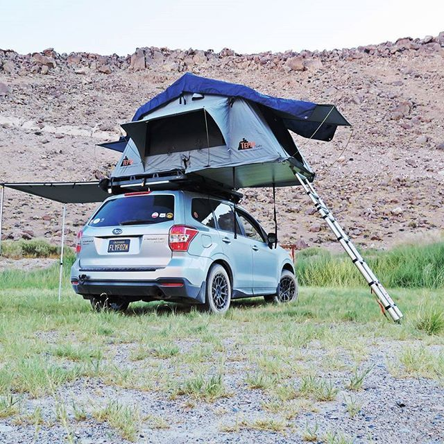 Tepui Roof Top Tent And Awning Fully Deployed Was The Most Comfortable Night I Motorcycle Camping Gear Camping Gear Motorcycle Camping