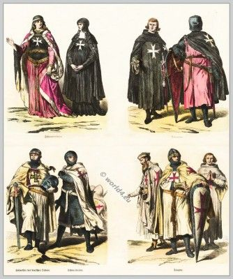 12th Century Clothing Middle Ages Gothic Knight Fashion Crusaders And Outremer Costumes
