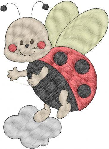 Lady Bug Embroidery Design Annthegran Craft Ideas Pinterest