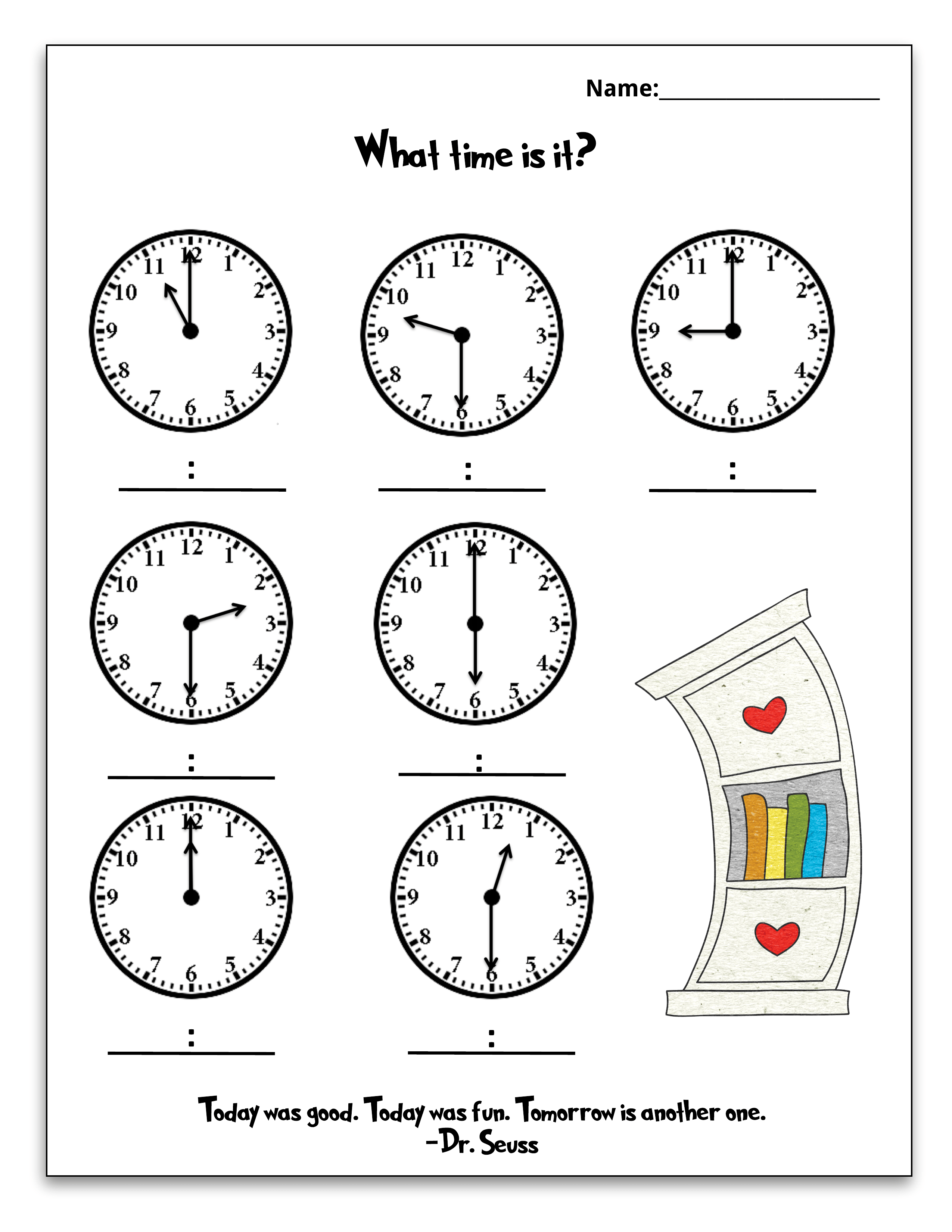 Free Dr Seuss Printable Math Pack For Grades K 1st In