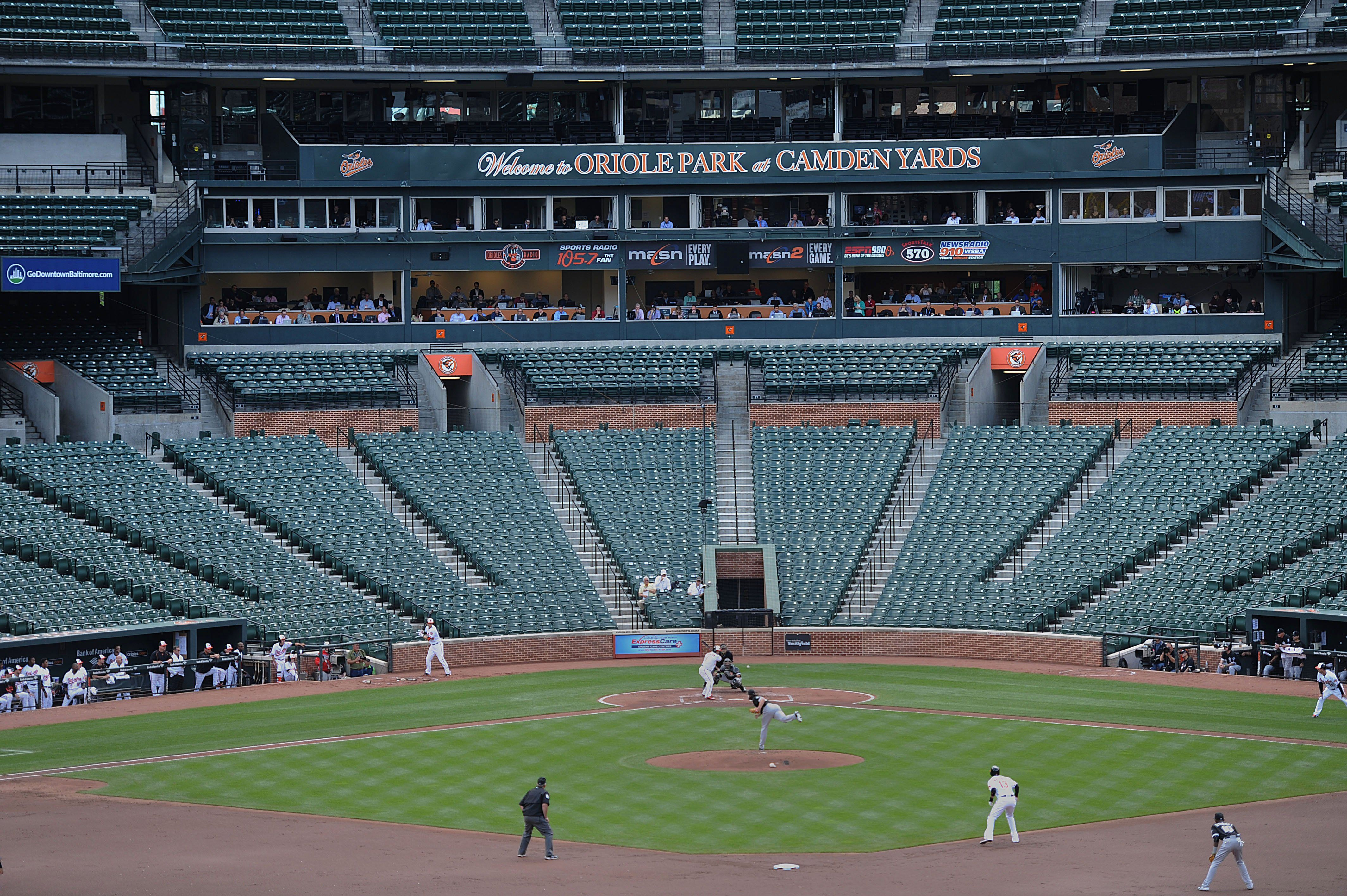 Empty Baseball Game Orioles Game Baltimore Orioles Stadium Mlb Games