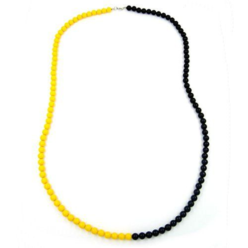 Dreambase Kette, Perlenkette 8mm, gelb-schwarz Dreambase https://www.amazon.de/dp/B01HYR7JP0/?m=A37R2BYHN7XPNV