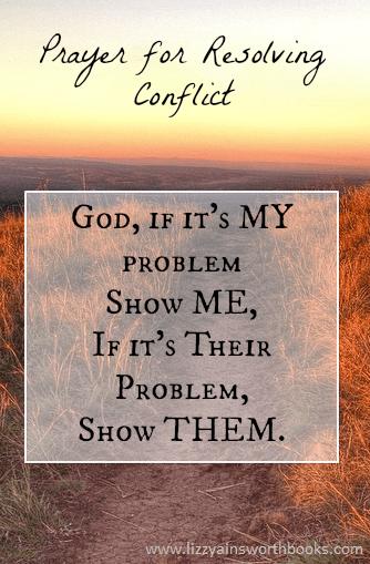 Prayer to resolve conflict