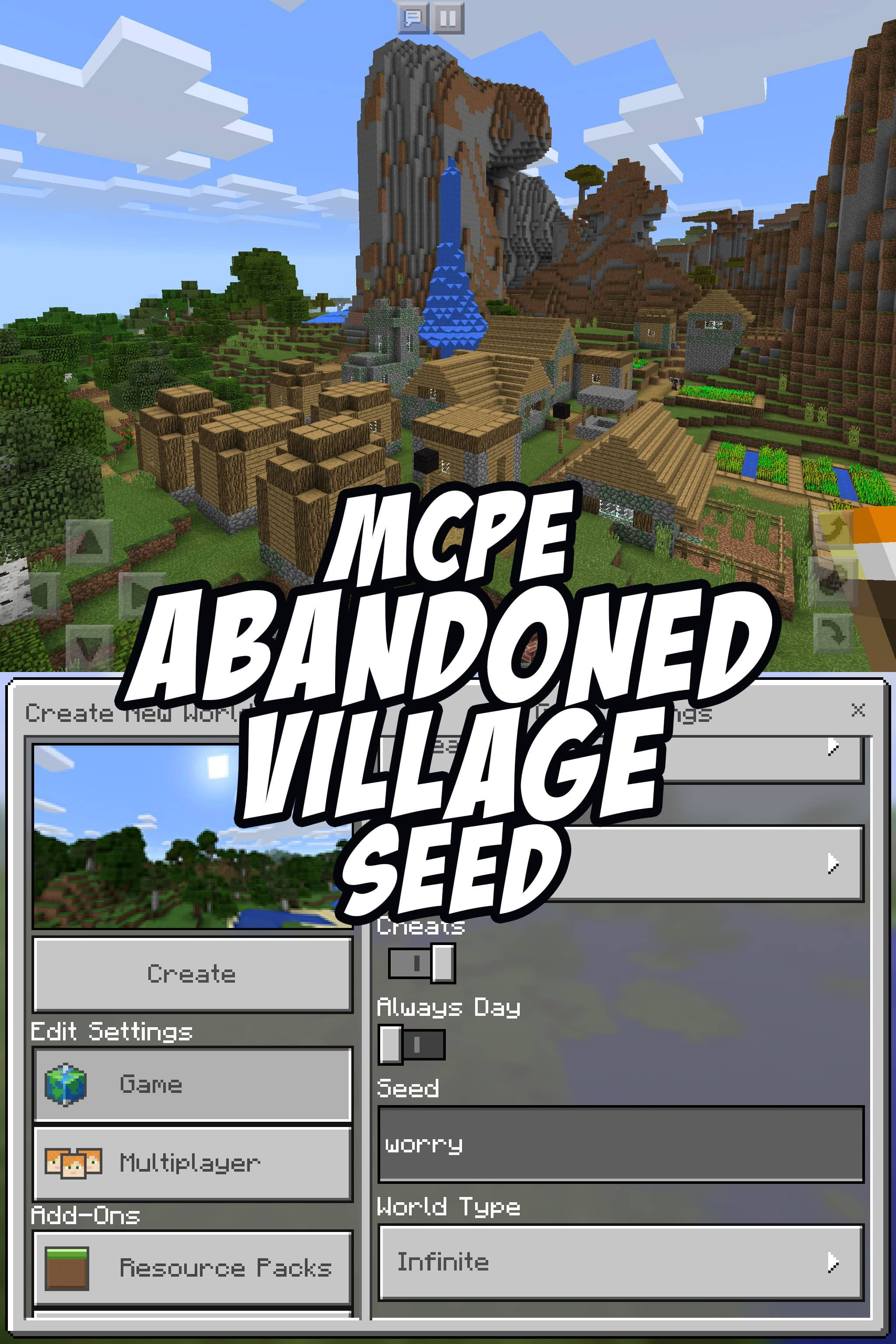 The large zombie-infected village by game spawn has been abandoned