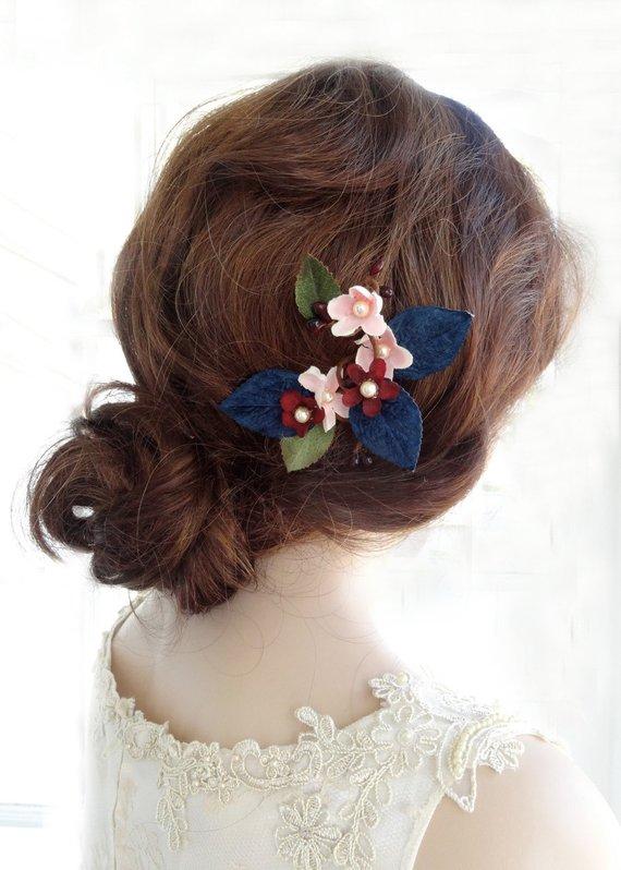 navy blue hair clip 49ced6e67ec
