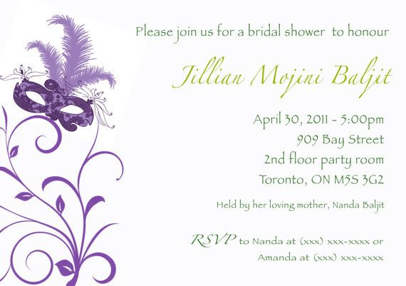 fun masquerade bridal shower invitation digital by blushnotes 1500