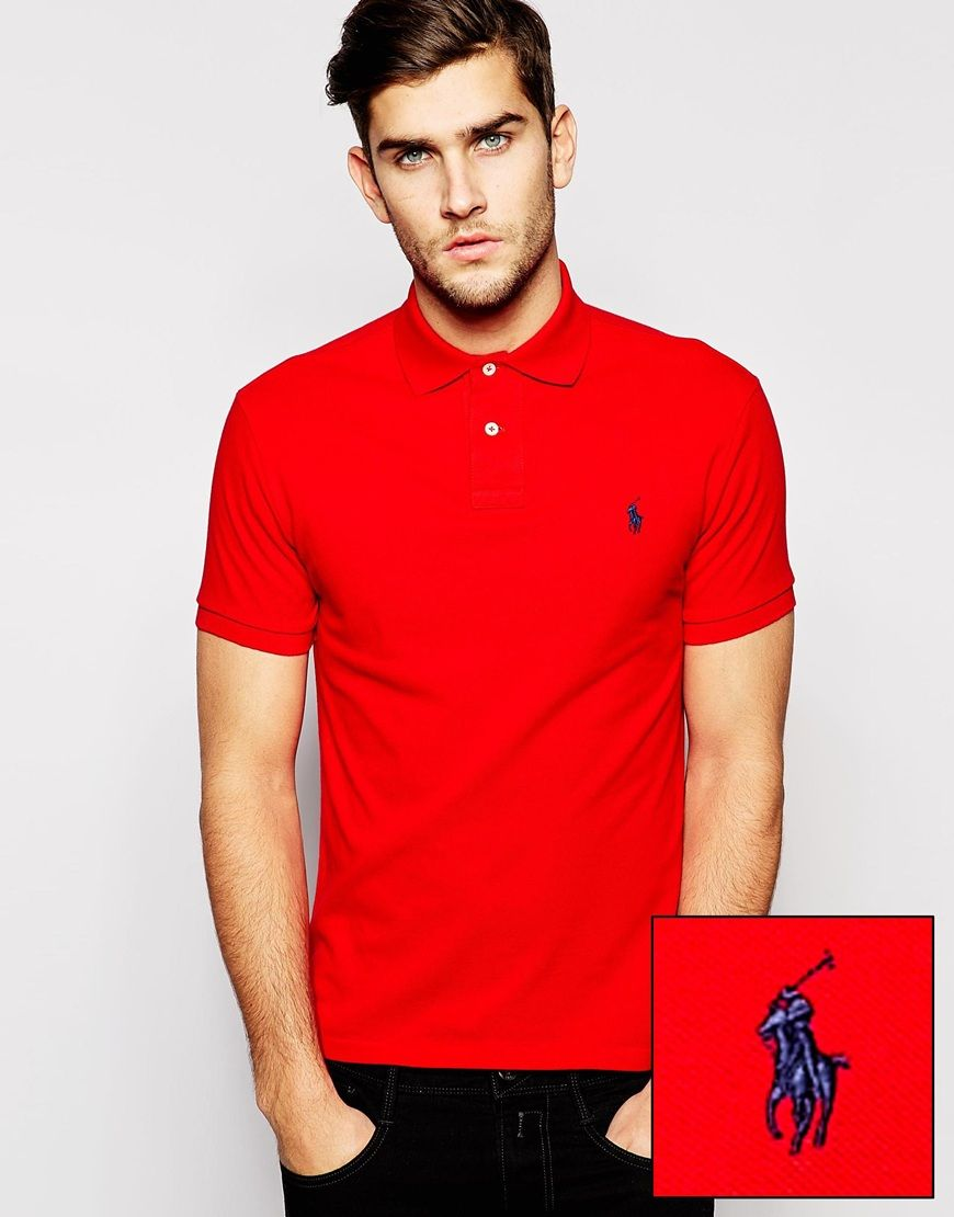 Free Shipping Affordable Cheap Sale 2018 New slim-fit polo shirt - Red Polo Ralph Lauren ECNNR