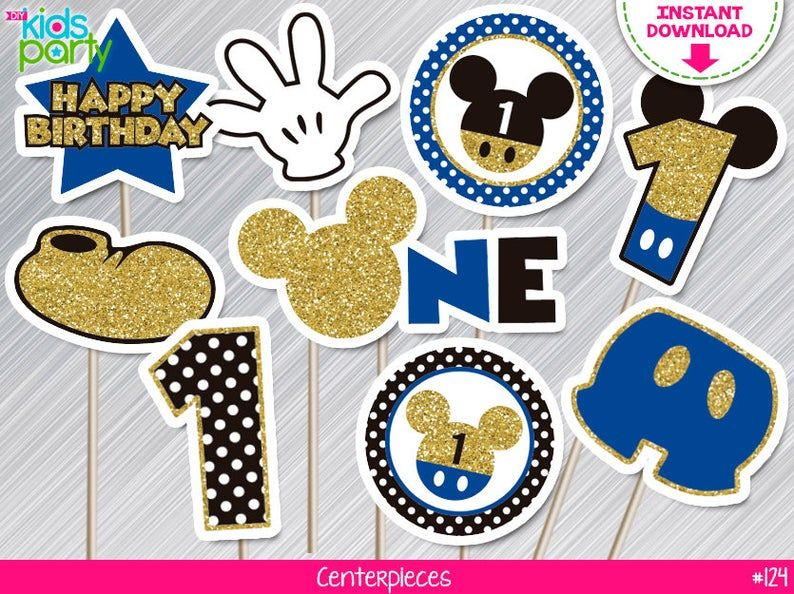 11 from ear to ear Mickey Mouse Head Shape 1 Die Cut for crafts DIY Kids Birthday Party Banners Wall Door Decorations