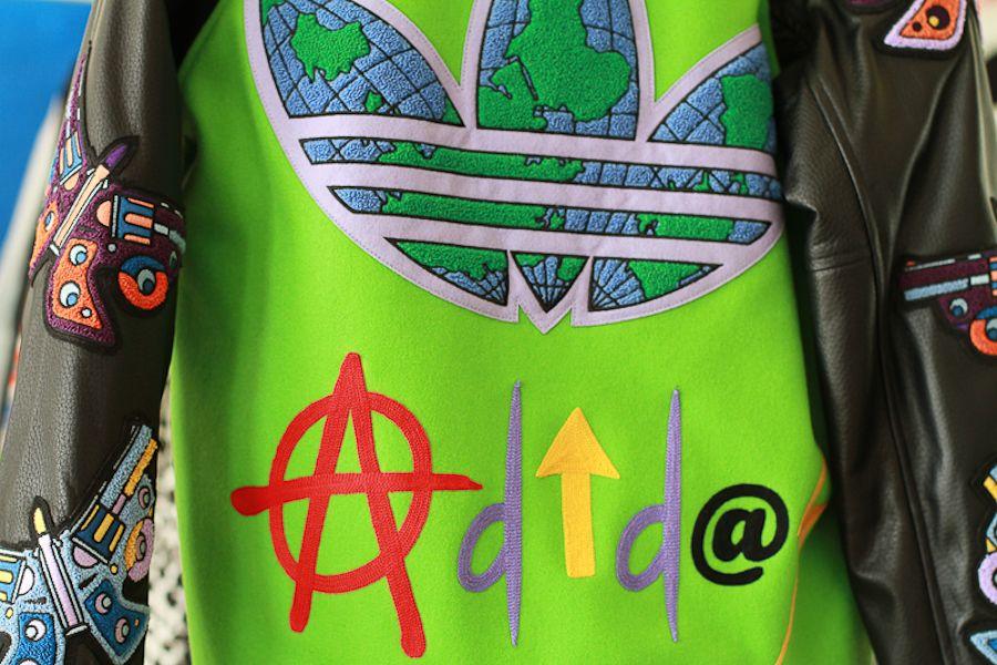 Adidas jeremy scott varsity jacket for aw12 shop adidas