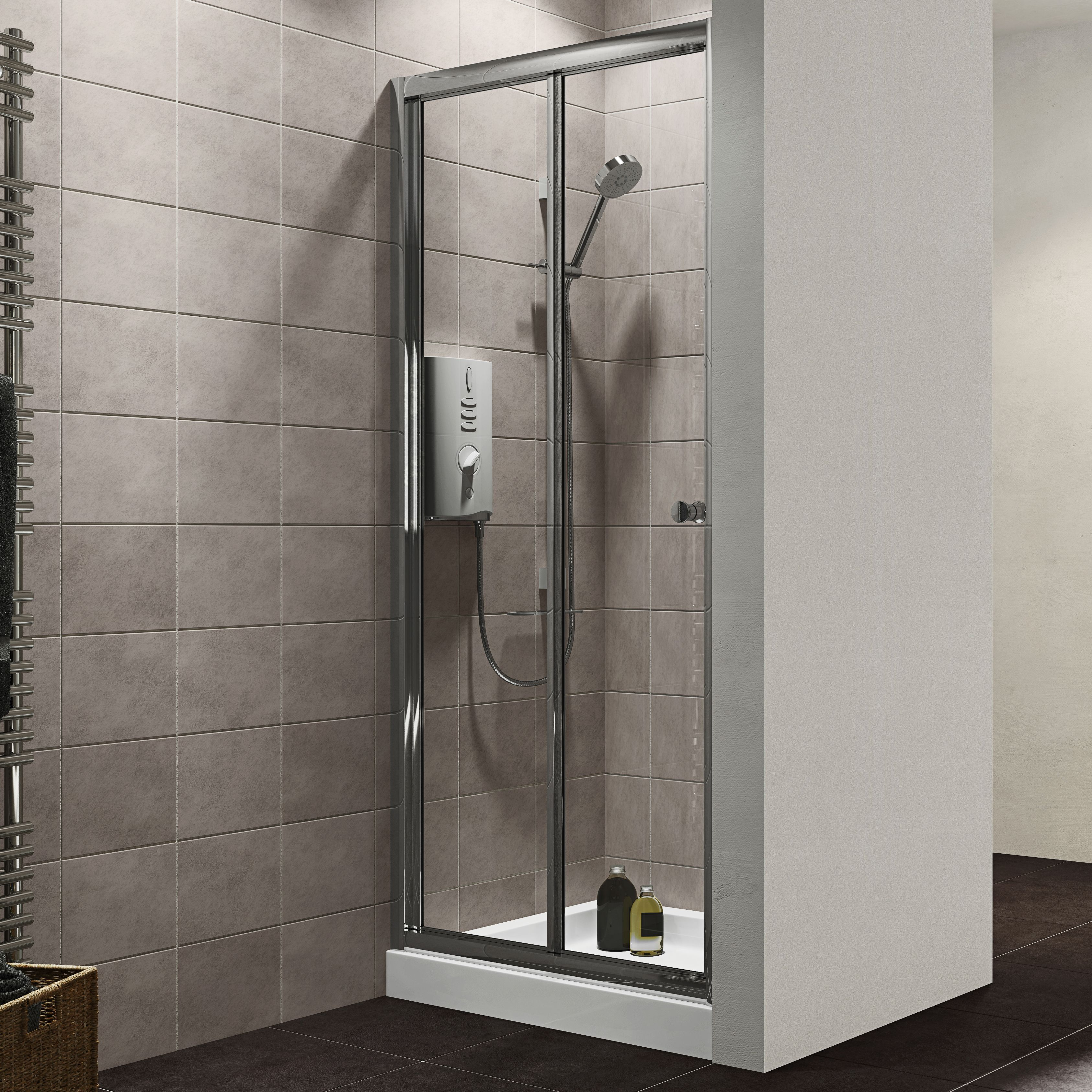 Plumbsure Bi-Fold Shower Door (W)800mm & Plumbsure Bi-Fold Shower Door (W)800mm | Departments | DIY at Bu0026Q ... pezcame.com