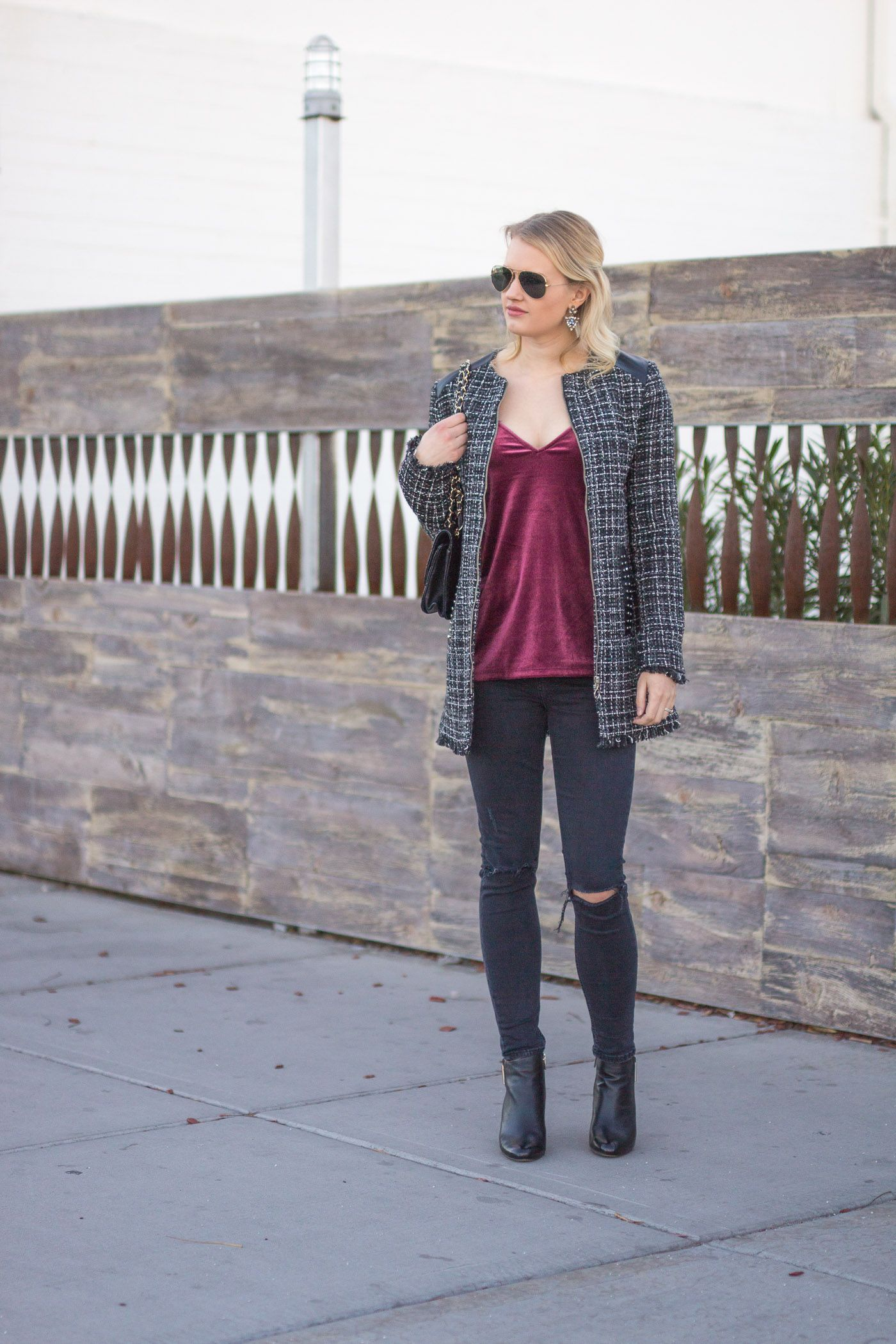 Fashionable Outfit Idea with Tweed Coats photo