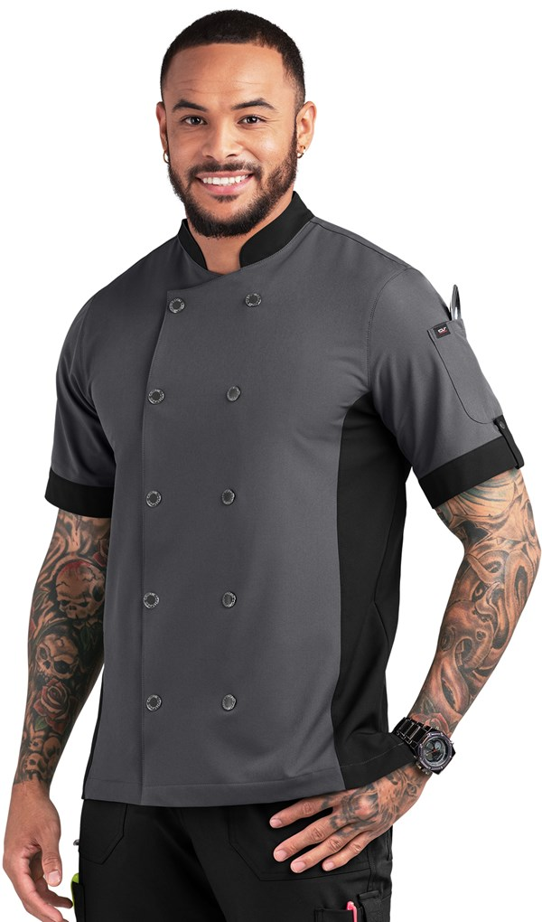Chef PERFORMANCE Men's Short Sleeve Coat , Stretch Chef Coats