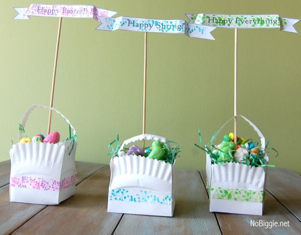 In search of VERY clever and unique Easter crafts. Then checkout this roundup of creative Easter basket crafts! Over 10 beautiful DIY Easter basket ideas. & Washi Tape Easter Crafts | Paper plate basket Easter and Easter ...