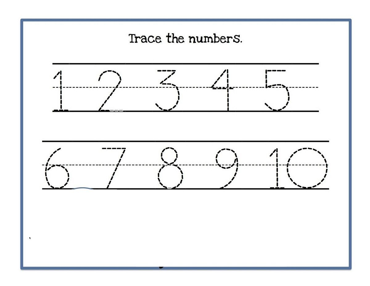9 Trace Numbers 1 10 Printable Worksheet Numbers 1 10