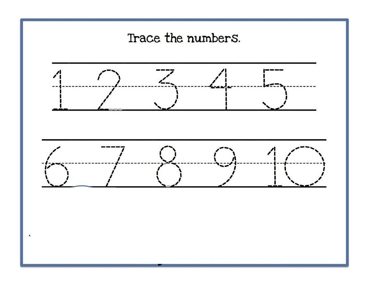 9 Trace Numbers 1 10 Printable Worksheet Numbers 1 10