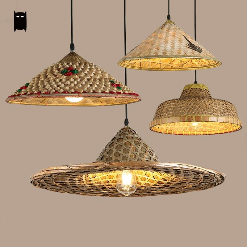 85 00 Buy Now Http Alin2n Shopchina Info Go Php T 32809709971 Bamboo Wicker Rattan Hat Pendant Li Bamboo Pendant Light Pendant Light Pendant Lamp Shade
