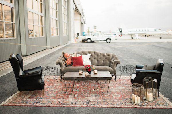 Lounge Vignette Found Vintage Rentals Corporate Event Decor Party Decor Vintage Furniture Rentals Red Leat Rental Decorating Decor Lounge Furniture