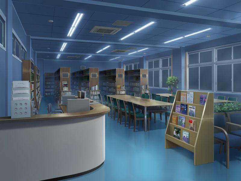 フリー素材 フリー素材 背景 学校図書室 彩 雅介のマンガ 図書室