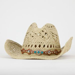 732718892 Open Weave Womens Cowboy Hat; I wonder if it comes with ties for ...