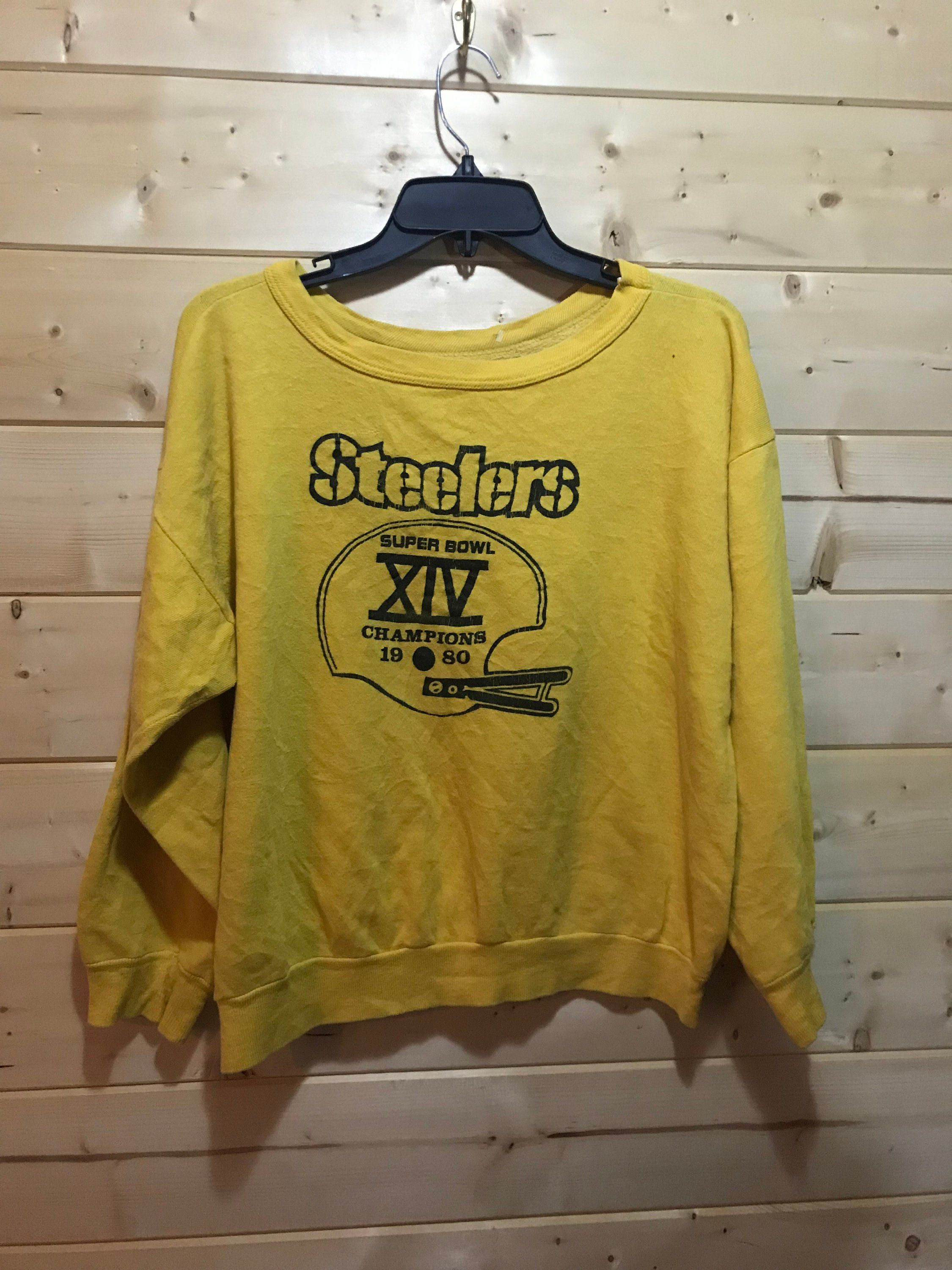best website b4e0a 1ba8f Vintage 1980 Super Bowl Pittsburgh Steelers SweatShirt 50/50 ...