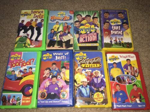 Lot the wiggles vhs wiggle bay lights camera action dance party lot the wiggles vhs wiggle bay lights camera sciox Image collections
