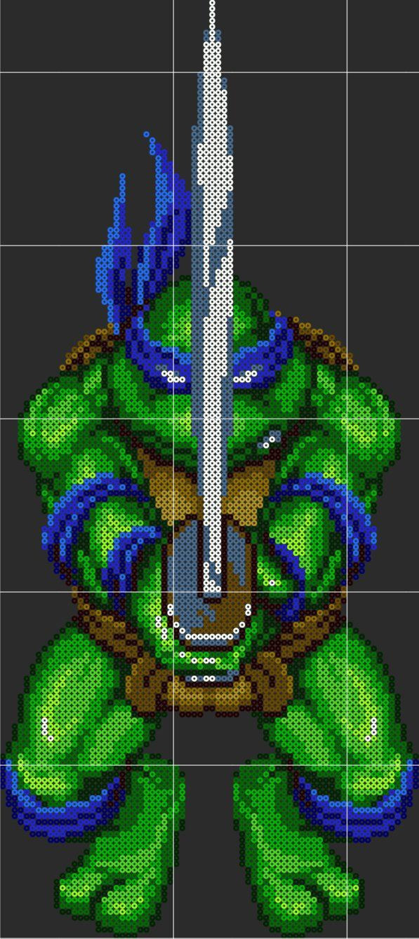 I Recolored Bebop from NES tmnt 3 and added perler pattern and peg ...