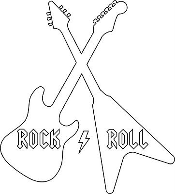 graphic relating to Printable Guitar Templates identify Rock Roll Blouse w/ Template Stencils Rock portray
