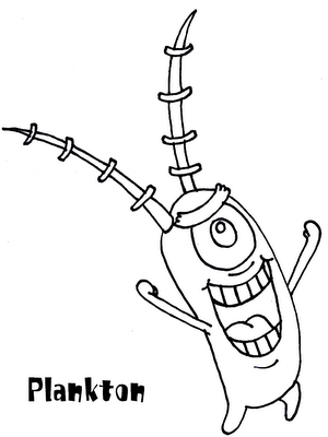 spongebob plankton coloring page spongebob coloring pages