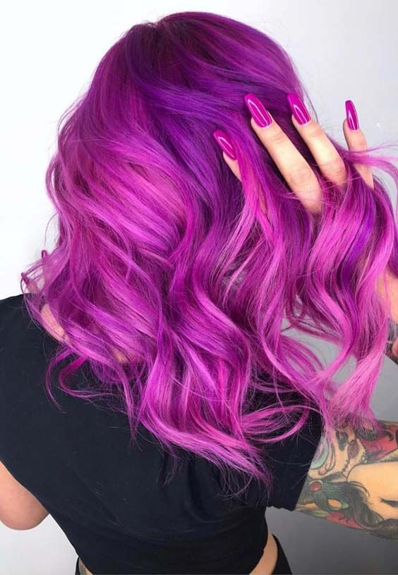 45 Pretty Pink Hair Colors Nail Goals To Wear In 2018 Sac