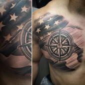 Photo of Tatouage de drapeau américain pour hommes 3 tatouage de pays pour hommes 50+ Tatouage de drapeau américain Desig …