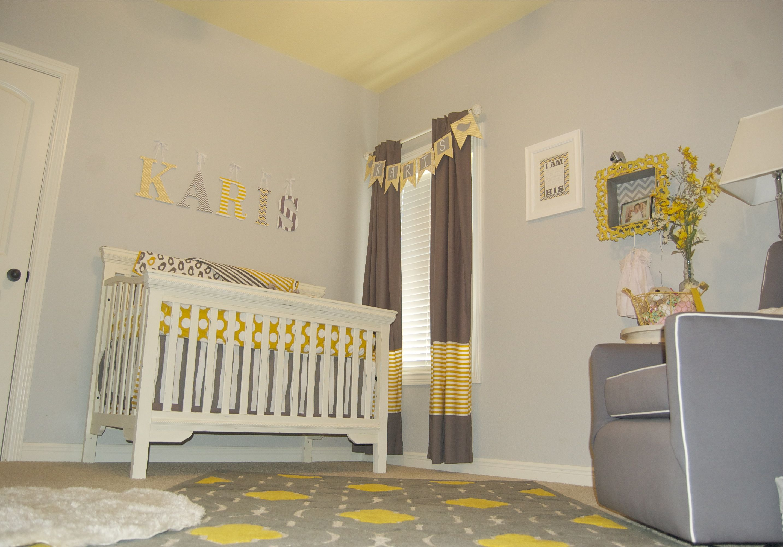 Baby Girl Gray And Yellow Nursery Baby Room Decor Yellow Nursery Baby Room Diy