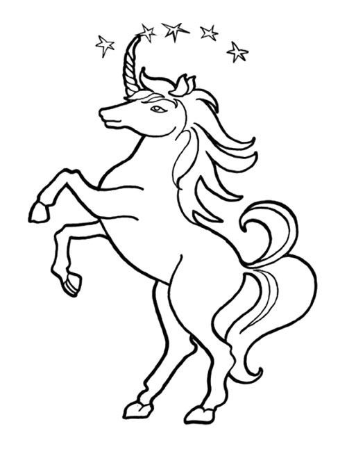 Unicorn Star Coloring Page For Kids Star Coloring Pages Unicorn Coloring Pages Coloring Pages
