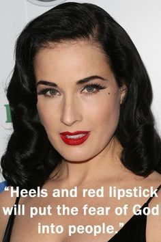 Dita Von Teese Inspirational Quotes Wise Words From Famous