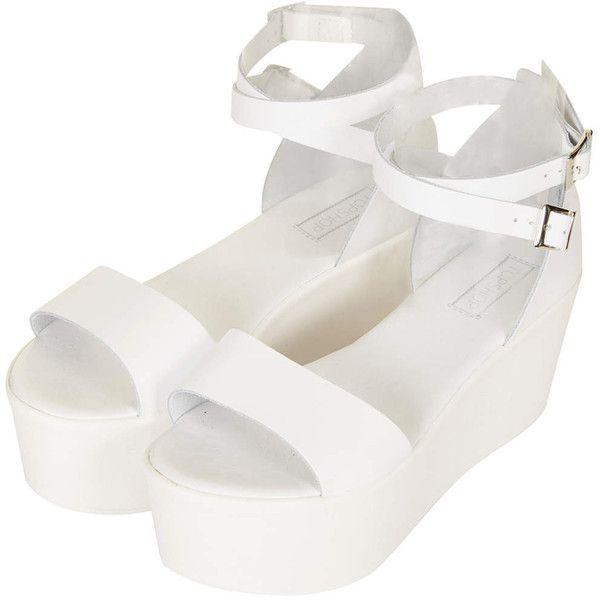 Flatform sandals, White shoes heels