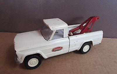 Vintage 1960's Tonka Jeep Wrecker Tow Truck - Tonka Pressed Steel Tow Truck Toy