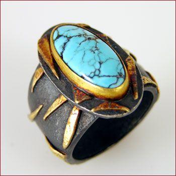 Fairchild Co Fine Designer Jewelry CLR 304 Turquoise Ring