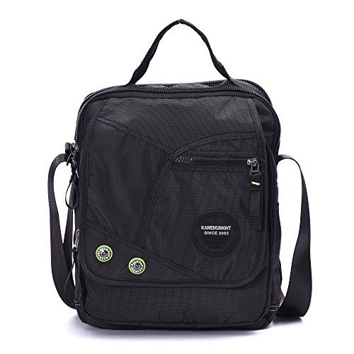 Mens Messenger Bag Fit Up 12 Inch Laptop iPad Multifunctional Waterproof Shoulder Bag Side Bag Crossbody Bag *** ON SALE Check it Out