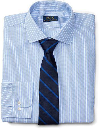 Big & Tall Polo Ralph Lauren Regent Striped Cotton Shirt