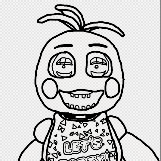fnaf coloring pages chica - photo#16