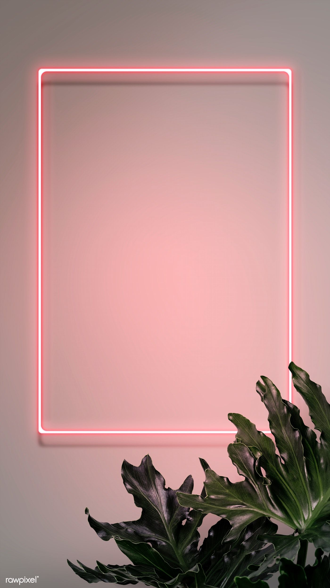 Neon red hello with a flamingo in a frame | premium image by rawpixel.com