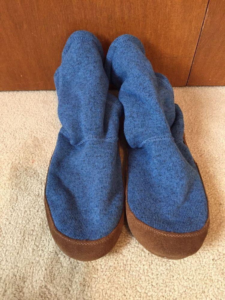 a691e98c1c89 L.L. Bean Blue Fleece Slipper Socks - Size M - Men 9-10 Women 10.5 ...
