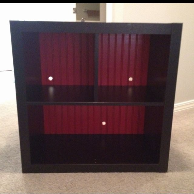 Ikea table with added beadboard
