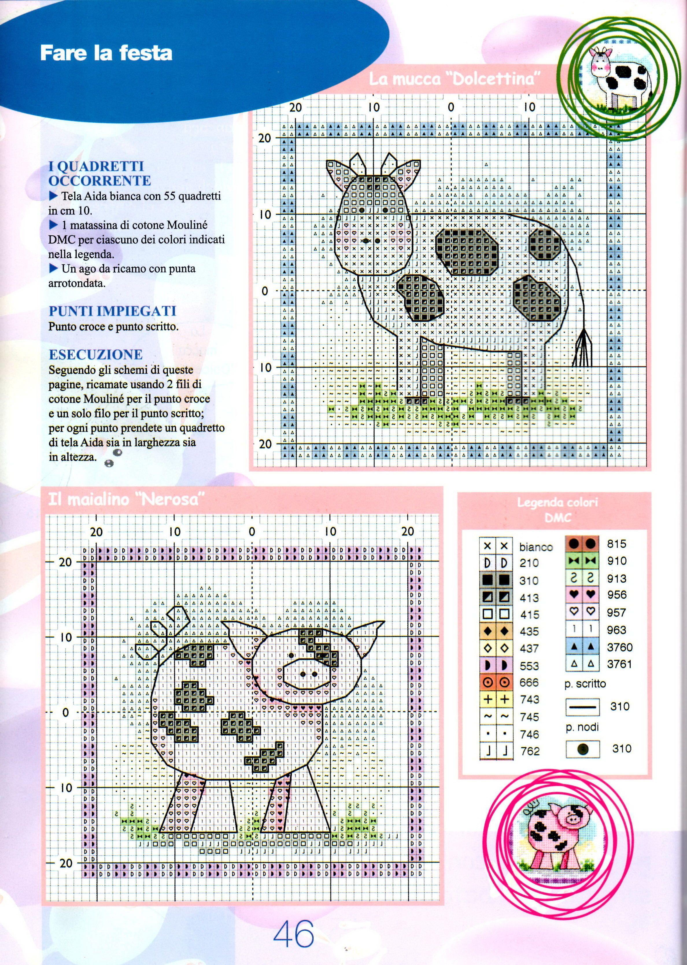 farm animals   Punto de cruz   Pinterest   Punto de cruz, Vaca y Puntos