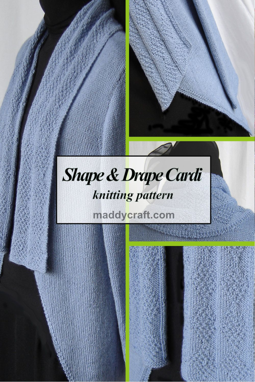 maddy laine Knitting Pattern - ML167 Shape & Drape Cardigan