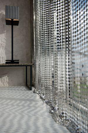 Rideau metals lelabo design s parer sans cloisonner pinterest rideaux rideaux design et - Rideau separateur de piece ...