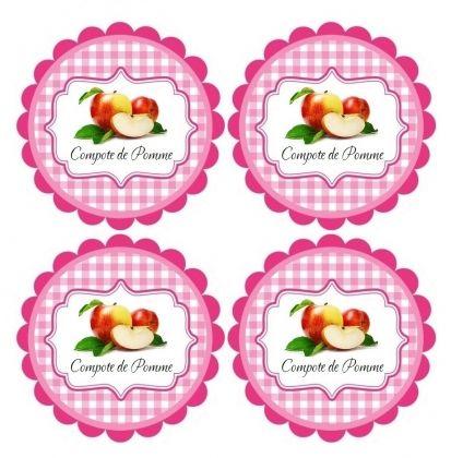 Étiquettes compote de pomme pour bocaux à imprimer - Label paper - logiciel d maison gratuit