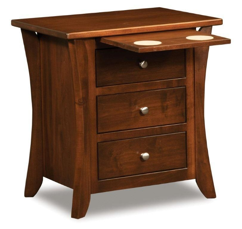 Amish caledonia shaker night stand night stand for Free nightstand woodworking plans