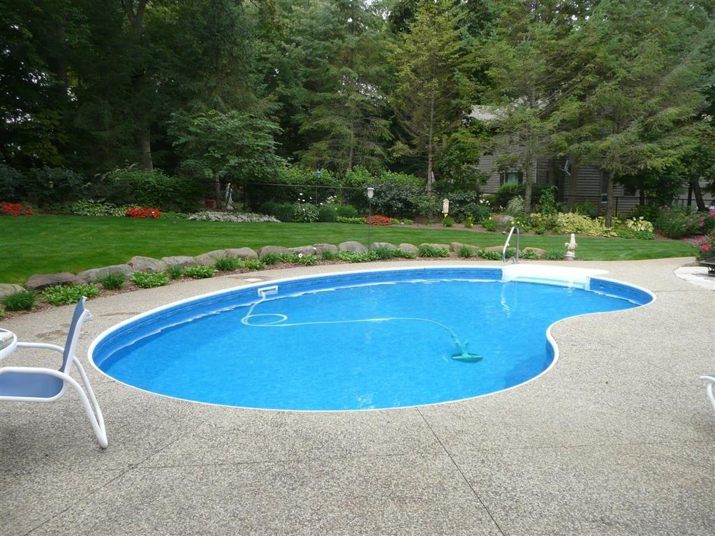 Kidney shaped inground swimming pool designs for large - Cheap inground swimming pool liners ...